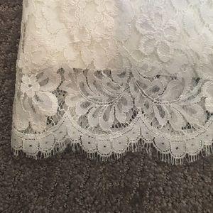 BCBGMaxAzria Dresses - BCBGMaxazria White Lace Midi Dress
